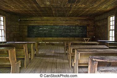 One room rustic school house - A rustic one room school...
