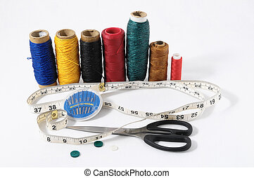 Sewing Kit - One Sewing Kit Isolated on a White Background