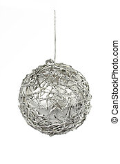 One silver Christmas ball
