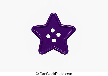 star purple sewing button four holes toy