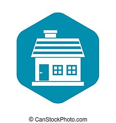 One-storey house icon, simple style