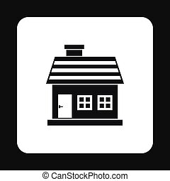 One storey house icon, simple style