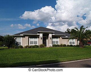 One Story Florida Stucco Home - One story Florida home with ...