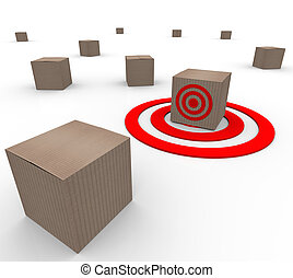 One Targeted Cardboard Box Inventory Warehouse - Many...