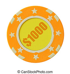 One thousand dollars casino chip