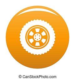 One tire icon orange