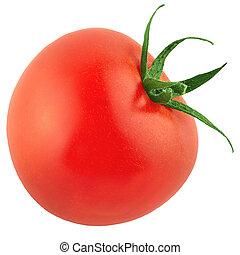 One tomato isolated on white backgdound