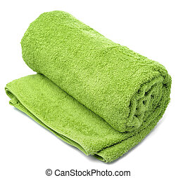 towel roll - One towel roll on a white background