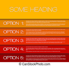 One two three four five - vector options background - Vector...