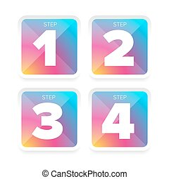 One Two Three Four steps