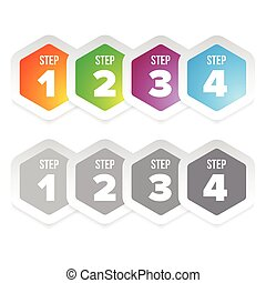 One Two Three Four steps label