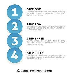 One two three four steps label progress bar