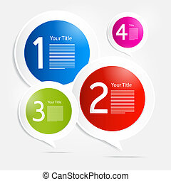 Vector Steps for Tutorial, Infograp - One, Two, Three, Four,...