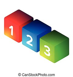 One Two Three steps cubes