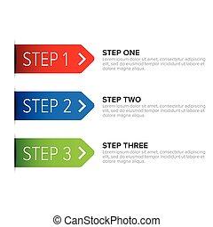 One Two Three steps ribbon