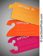 One two three - vector progress background - Vector Paper...