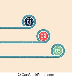 One Two Three - Vector progress infographic template
