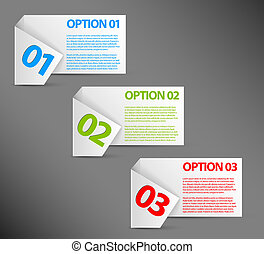 Vector white Paper Progress background / product choice or versions