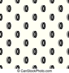 One tyre pattern seamless vector