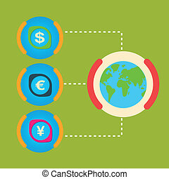 One unit of the world major cash Dollar, Yen, Euro