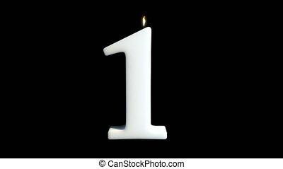 One wax candle happy birthday 4k