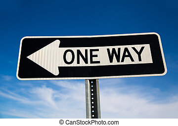 One way arrow sign in USA