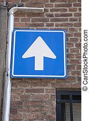 One Way Arrow Street Sign