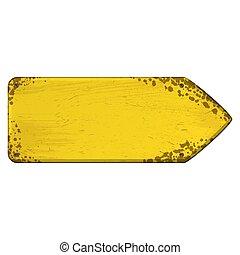 One way direction arrow board