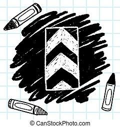 One way doodle