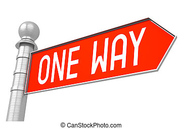 One way - red signpost