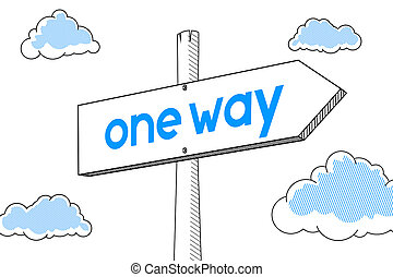 One way - signpost