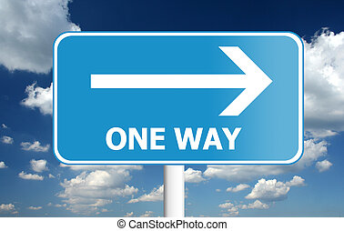 one way - traffic sign