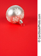 One white Christmas ball