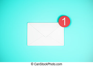 One white email icon