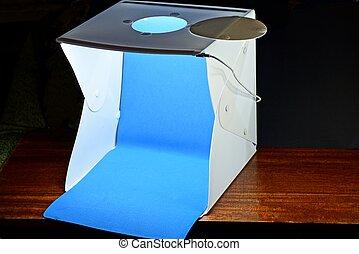 one white square plastic box