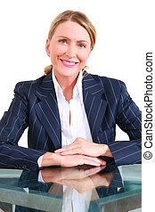 one woman in office at the desk