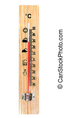 One Wooden Thermometer