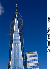 One World Trade Center in the financial district of NYC