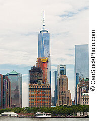 One World Trade Center on cloudy day