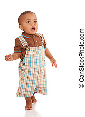 One Year Old Baby Boy Standing Talking