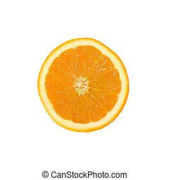 one yellow cut orange