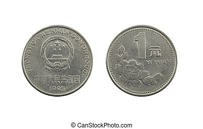 One Yuan of china coins.