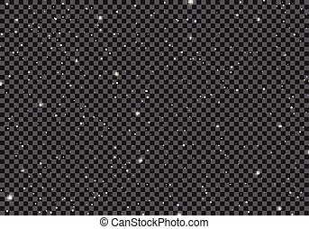 oneindigheid, starlight, ruimte, heelal, hemel, achtergrond., sterretjes, melkweg, planeet, nacht, kosmos, pattern., transparant, starry