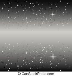 oneindigheid, sterretjes, ruimte, heelal, pattern., illustratie, achtergrond., vector, planeet, kosmos, melkweg, starlight