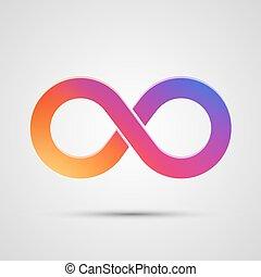 oneindigheidssymbool, met, kleur, gradient.