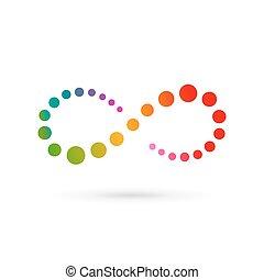 oneindigheidssymbool, ontwerp, mal, logo, lus, pictogram