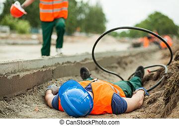ongeluk, op het werk
