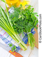 onion and other greens