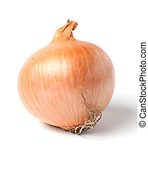 Onion bulb isolated on white
