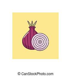 onion  flat color icon